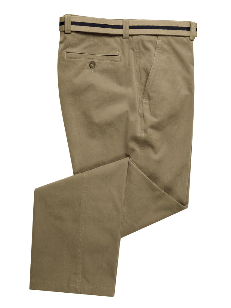 Remus Uomo Cotton Stretch Trouser - Stone