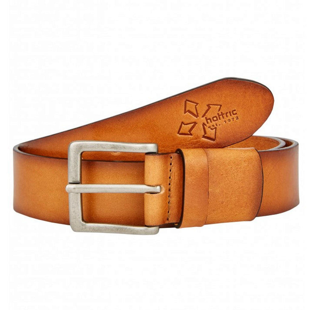 Hattric 40mm Flex Leather Belt - Tan