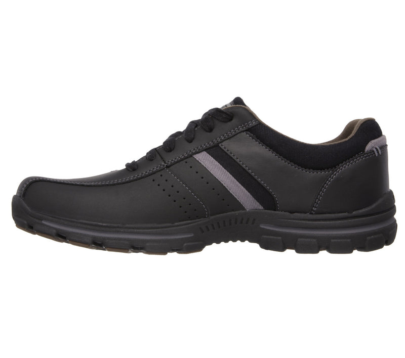 Skechers Braver - Alfano Relaxed Fit Shoe - Black