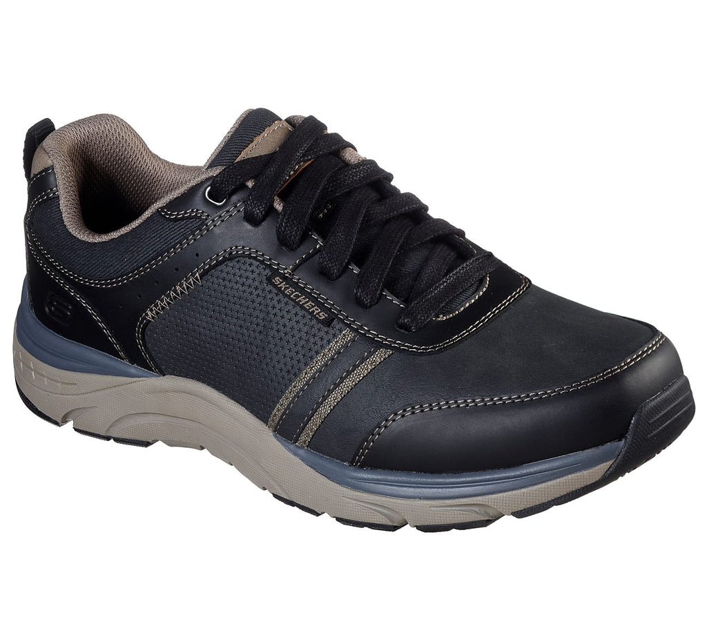 Skechers Sentinal - Lunder Relaxed Fit Shoe - Black
