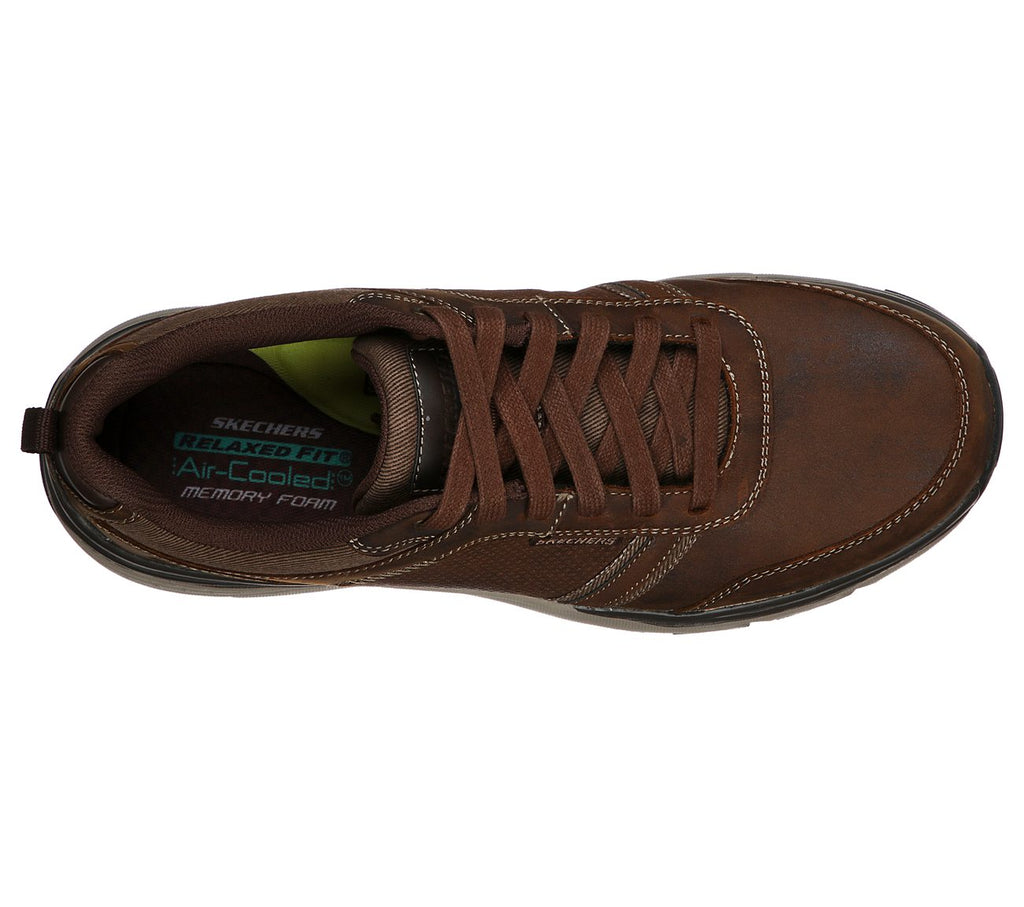 Skechers Sentinal - Lunder Relaxed Fit Shoe - Brown