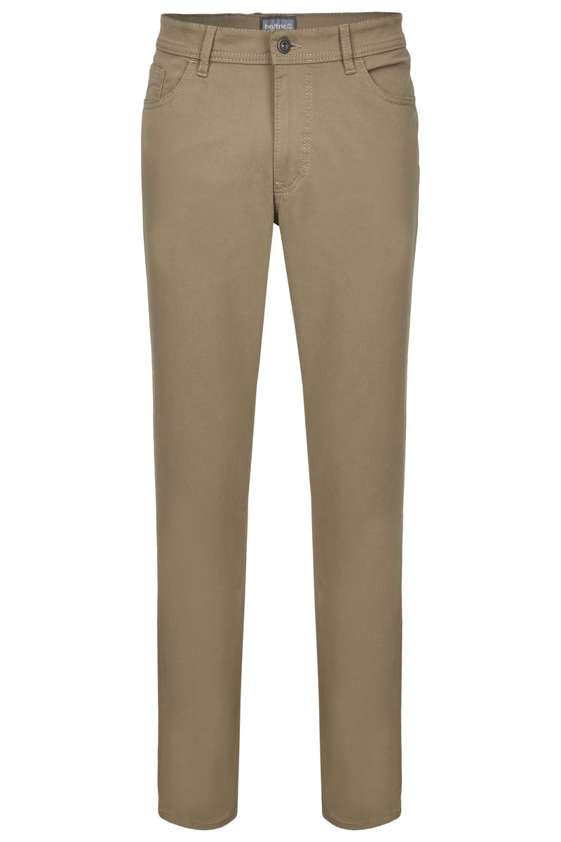 Hattric Regular Fit Coloursafe Cotton Jean - Beige