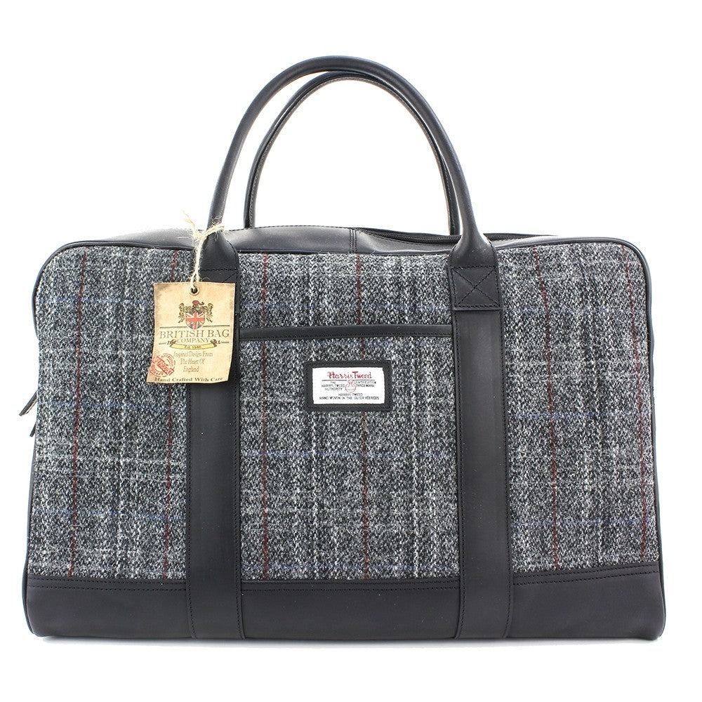 British Bag Company Berneray Harris Tweed/Leather Holdall