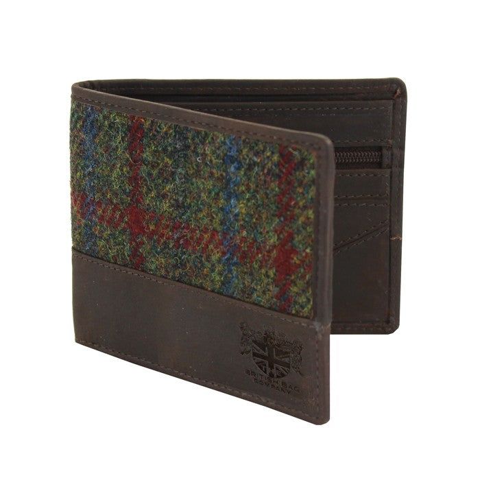 British Bag Company Breanais Harris Tweed Wallet