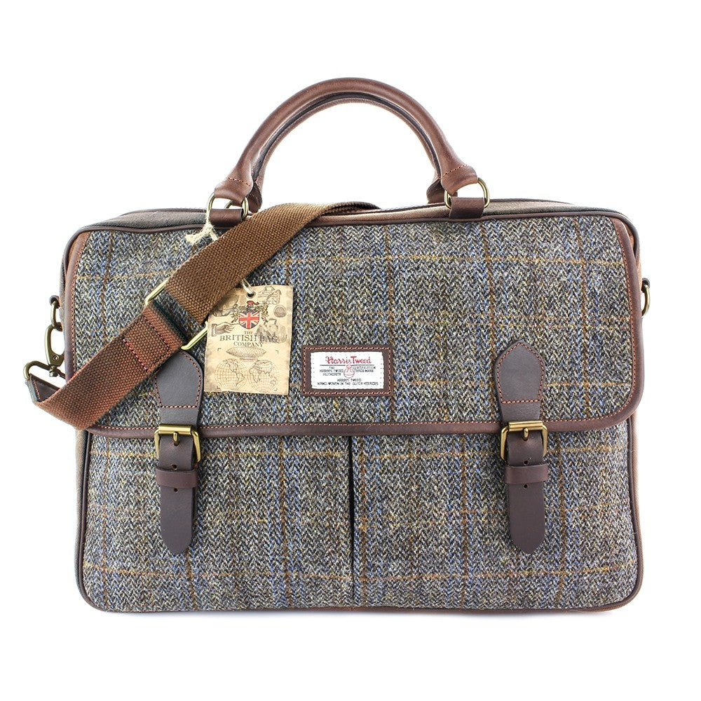 British Bag Company Carloway Large Harris Tweed/Leather Briefcase