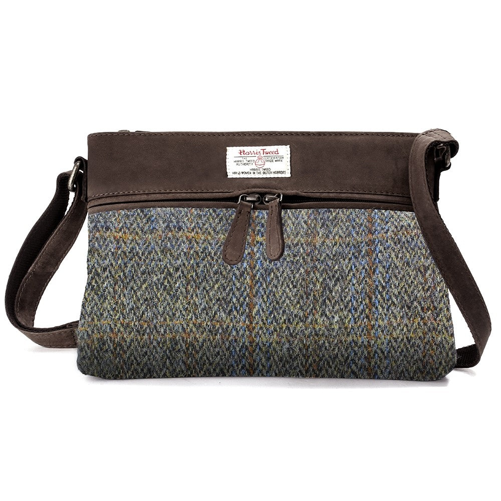 British Bag Company Carloway Ladies Harris Tweed/Leather Handbag