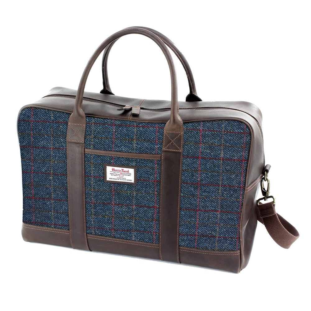 British Bag Company Allasdale Harris Tweed/Leather Holdall