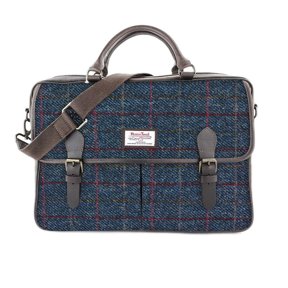 British Bag Company Allasdale Large Harris Tweed/Leather Briefcase