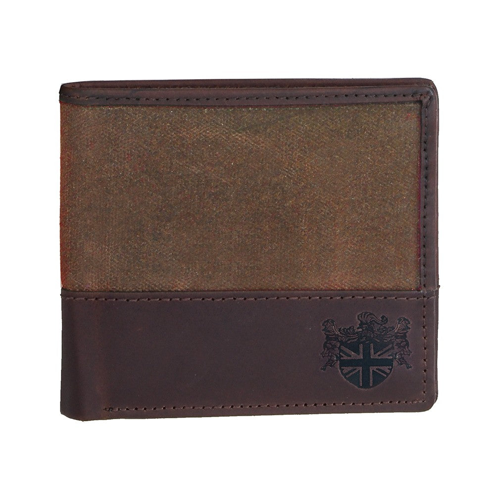 British Bag Company Navigator Waxed Canvas Wallet - Brown