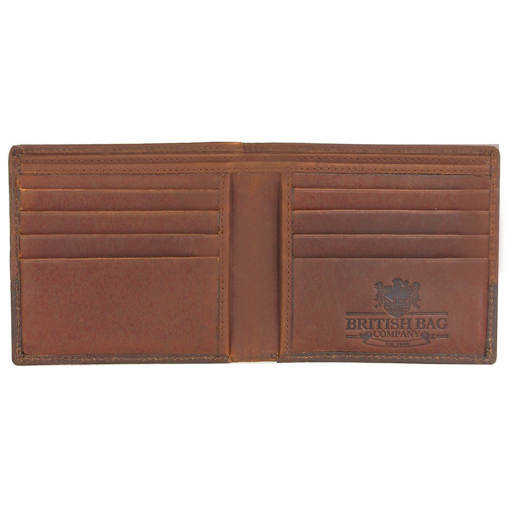 British Bag Company Navigator Waxed Canvas Wallet - Navy