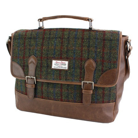 British Bag Company Breanais Harris Tweed Briefcase