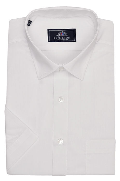 Rael Brook Short Sleeve Plain Shirt - White