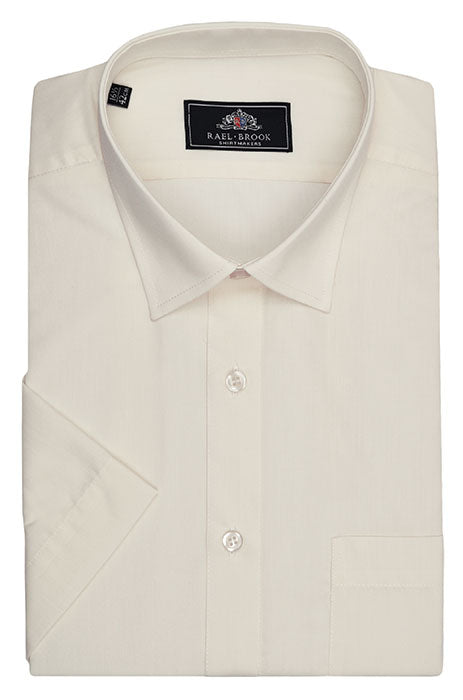 Rael Brook Short Sleeve Plain Shirt - Cream