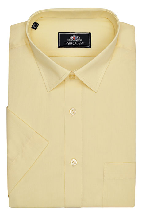 Rael Brook Short Sleeve Plain Shirt - Lemon