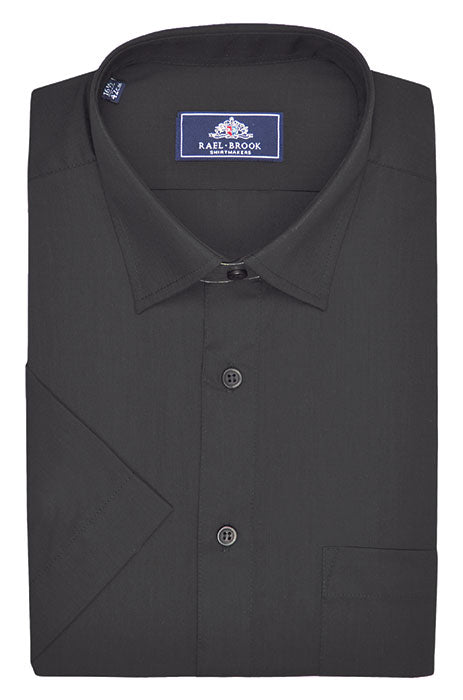 Rael Brook Short Sleeve Plain Shirt - Black