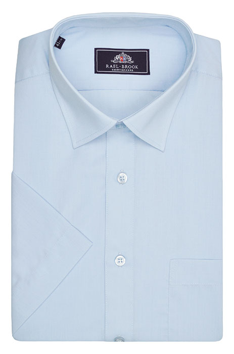 Rael Brook Short Sleeve Plain Shirt - Light Blue