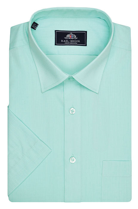 Rael Brook Short Sleeve Plain Shirt - Cyan