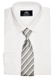 Rael Brook Plain Shirt & Tie Set - White