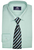 Rael Brook Plain Shirt & Tie Set - Green