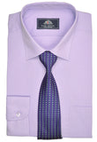Rael Brook Plain Shirt & Tie Set - Lilac