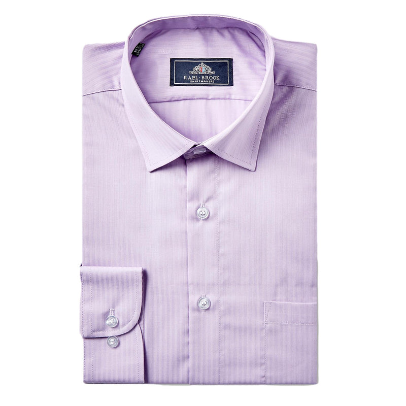 Rael Brook Satin Stripe Shirt - Purple