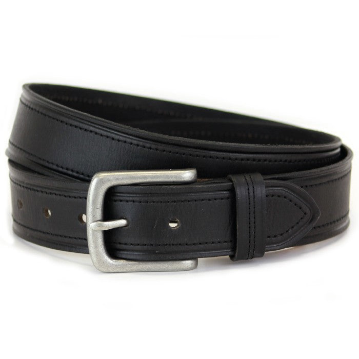 Sophos 40mm Creasewheel Edge Leather Belt - Black