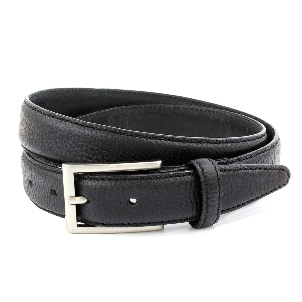 Sophos 30mm Pebblegrain Leather Belt - Black