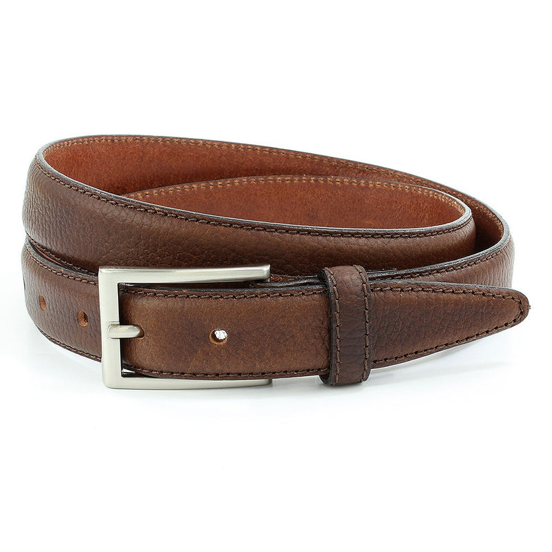 Sophos 30mm Pebblegrain Leather Belt - Brown