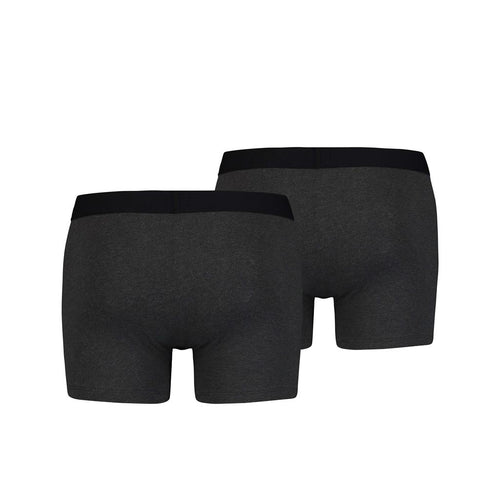 Levi's Basic Boxer Brief 2 Pack - Anthracite Melange
