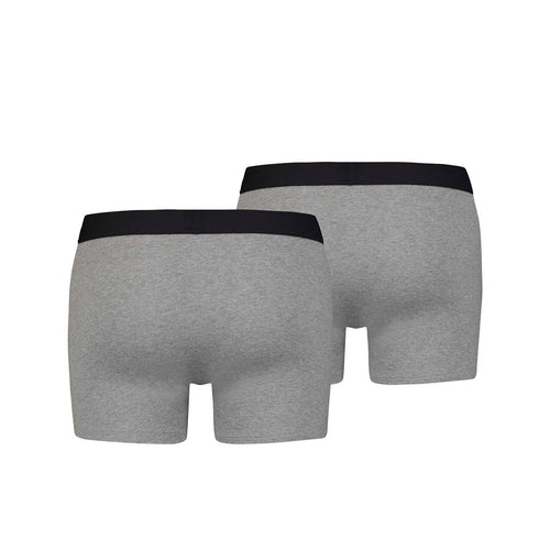 Levi's Basic Boxer Brief 2 Pack - Mid Grey Melange