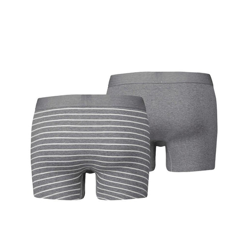 Levi's Vintage Stripe Boxer Brief 2 Pack - Mid Grey Melange