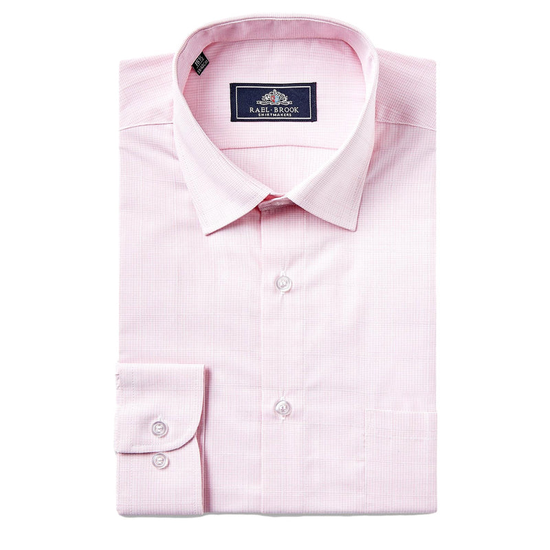 Rael Brook Neat Check Shirt - Pink