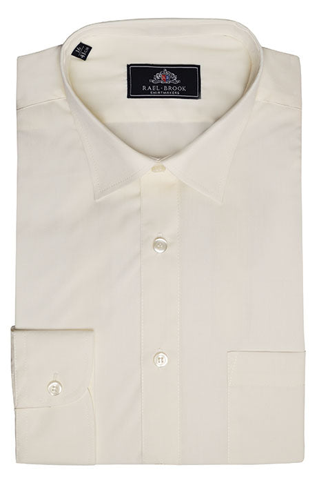 Rael Brook Long Sleeve Plain Shirt - Cream