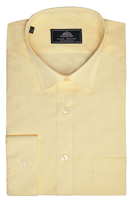 Rael Brook Long Sleeve Plain Shirt - Lemon