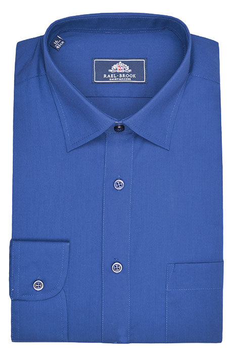 Rael Brook Long Sleeve Plain Shirt - Royal Blue