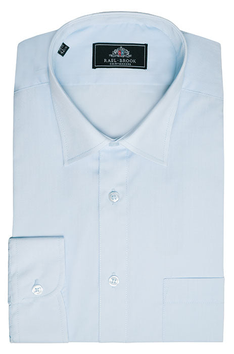 Rael Brook Long Sleeve Plain Shirt - Light Blue