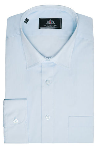 Rael Brook Long Sleeve Plain Shirt - Cyan