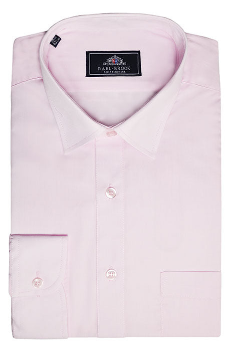 Rael Brook Long Sleeve Plain Shirt - Pink