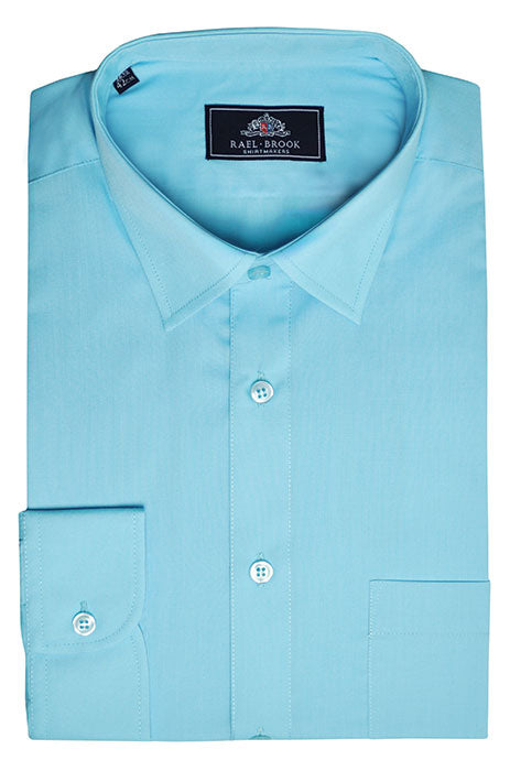 Rael Brook Long Sleeve Plain Shirt - Turquoise