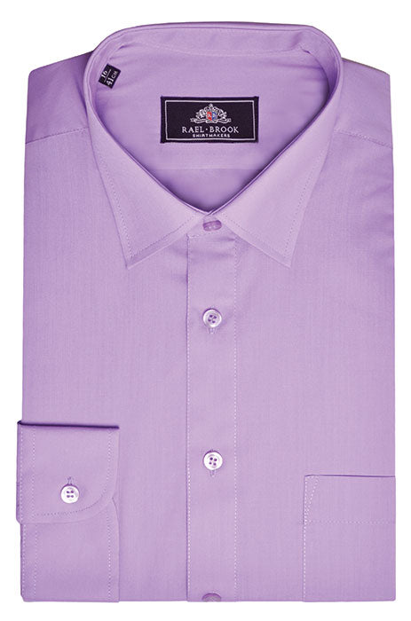 Rael Brook Long Sleeve Plain Shirt - Purple
