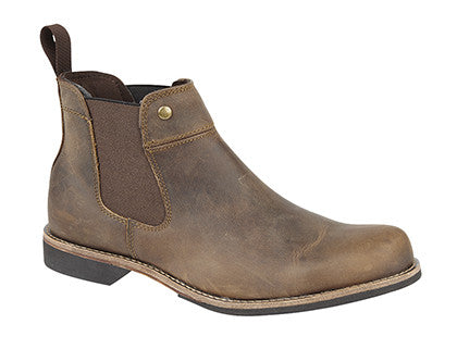 Woodland Brown Waxy Leather Chelsea Boot