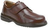 Roamers Brown Velcro Casual Comfort Shoe