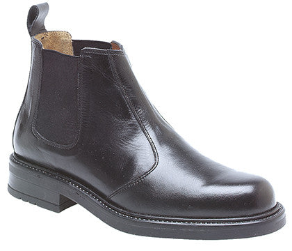 Roamers Black Leather Classic Chelsea Boot