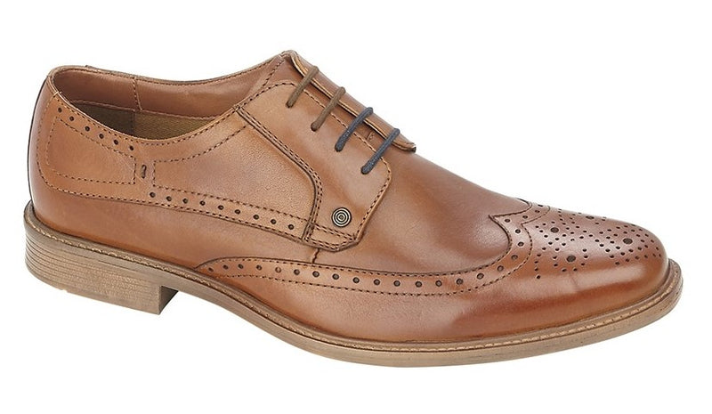 Lambretta Leather Brogue Shoe - Tan