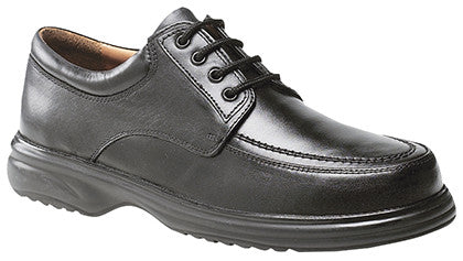 Roamers Black Laced Casual Comfort Shoe