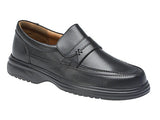 Roamers Black Slip-On Casual Comfort Shoe