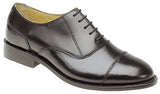 Kensington Black Laced All Leather Toecap Shoe