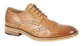 Kensington Tan All Leather Brogue Shoe