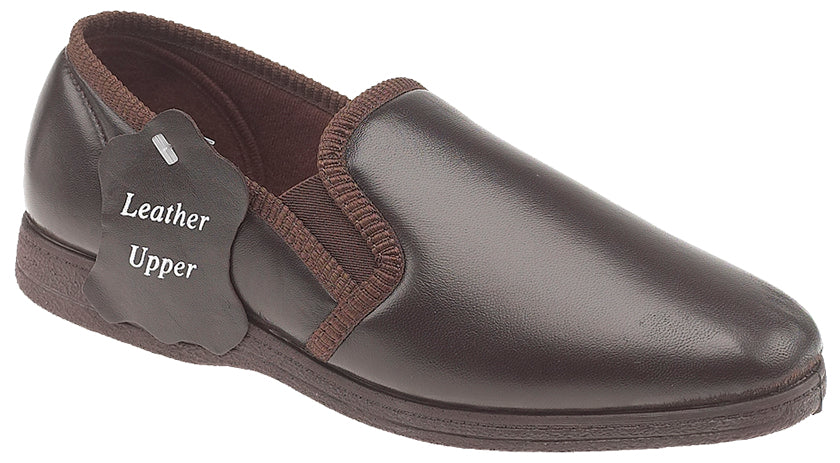 Sleepers Brown Leather Slippers