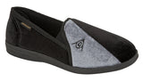 Dunlop Black/Grey Slippers